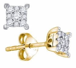 10KT Yellow Gold 0.26CTW DIAMOND FASHION EARRINGS - Earrings