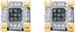 10KT Yellow Gold 0.28CTW DIAMOND  MICRO PAVE EARRINGS - Earrings