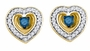 10KT Yellow Gold 0.33CTW BLUE DIAMOND MICRO-PAVE EARRINGS - Earrings