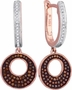 10KT Yellow Gold 0.40CTW-DIA MICRO-PAVE EARRINGS - Earrings