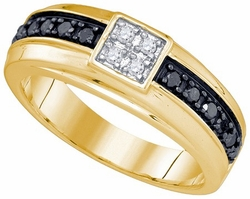 10KT Yellow Gold 0.49CT-DIA MENS BAND - Rings