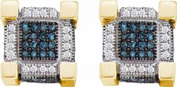 10KT Yellow Gold 0.50CTW DIAMOND  MICRO PAVE EARRINGS - Earrings