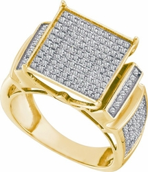 10KT Yellow Gold 0.55CTW DIAMOND  MICRO PAVE RINGS - Rings