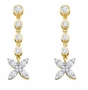 10KT Yellow Gold 0.77CTW DIAMOND FASHION EARRINGS - Earrings