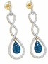 10KT Yellow Gold 0.80CTW BLUE DIAMOND FASHION EARRINGS - Earrings