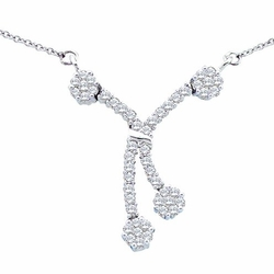 14k White Gold 0.50Ct-Dia Fashion Necklace