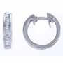 14K White Gold Baguette Diamond Hoop Earrings (1/3 Ctw) - Earrings