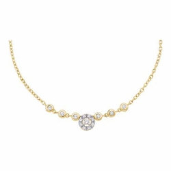 14k Yellow Gold 0.34Ctw Diamond Ladies Fashion Necklace