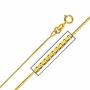 14K Yellow Gold 0.6 mm Box Link Chain Necklace (Length: 18 inches; Weight: 0.8 grams approx)