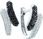14KT White Gold 0.50CTW ROUND DIAMOND LADIES FASHION EARRINGS - Earrings