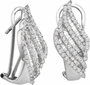 14KT White Gold 1.35CTW DIAMOND FASHION EARRINGS - Earrings