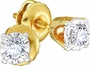 14KT Yellow Gold 0.10CTW ROUND DIAMOND LADIES FASHION EARRINGS (STUD) - Earrings