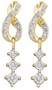 14KT Yellow Gold 0.15CTW ROUND DIAMOND LADIES CLUSTER FASHION EARRINGS - Earrings
