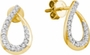 14KT Yellow Gold 0.25CTW DIAMOND FASHION EARRINGS - Earrings