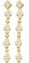 14KT Yellow Gold 0.50CTW  DIAMOND  FASHION EARRINGS - Earrings