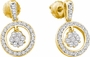 14KT Yellow Gold 0.50CTW DIAMOND FLOWER EARRINGS - Earrings