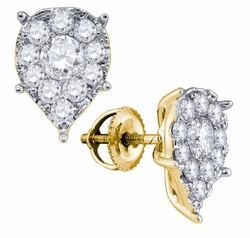 14KT Yellow Gold 1.64CTW DIAMOND SEVILLE EARRINGS - Earrings