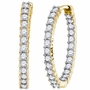 14KT Yellow Gold 3.00CT-DIA FASHION EARRINGS - Earrings