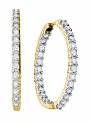 14KT Yellow Gold 3.75CTW DIAMOND FASHION EARRINGS - Earrings