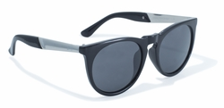 2-Tone Frame and Solid Construction Sunglasses by Swag