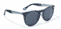2-Tone Frame with Black and White Demi and Solid Construction Sunglasses by Swag