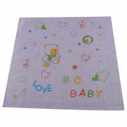 5 Pcs Cartoon Bear Baby's Cotton Bibs Infant Handkerchief Sweat Towel