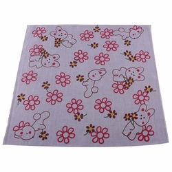 5 Pcs Lovely Flower Baby's Cotton Bibs Sweat Wash Towel Infant Handkerchief