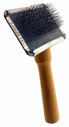 "5"" Wire Pet Grooming Brush With 2.5"" X 1.75"" Head And Wooden Handle :  ( Pack of  1 Pc ) -"