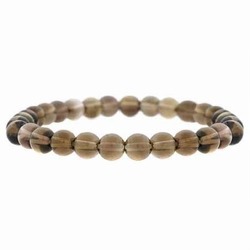 6mm Smokey Quartz Beaded Stretch Bracelet