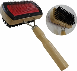 7-Inch Double-Sided Steel & Nylon Grooming Brush, For Dogs & Cats :  ( Pack of  1 Pc. ) -