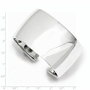 925 Sterling Silver 40mm Wide Polished Cuff Bracelet - Size: 7.5