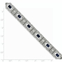925 Sterling Silver Blue & White Synthetic Cubic Zirconia Rectangle Bezel Bracelet