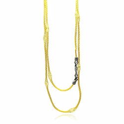 .925 Sterling Silver Gold Plated Mystical Chain  Italian Necklace - SOD