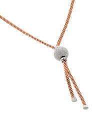 .925 Sterling Silver Rose Gold Plated Necklace - SOD