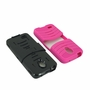 Alcatel One Touch Conquest 7046T Hybrid Silicone Case Cover Stand Pink