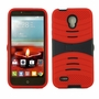 Alcatel One Touch Conquest 7046T Hybrid Silicone Case Cover Stand Red