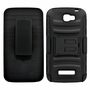 Alcatel One Touch Fierce 2 / 7040T Armor Belt Clip Holster Case Black