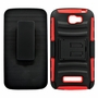 Alcatel One Touch Fierce 2 / 7040T Armor Belt Clip Holster Case Red