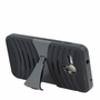 Alcatel One Touch Fierce XL Hybrid Silicone Case Cover Stand Black