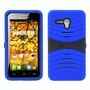 Alcatel One Touch Fierce XL Hybrid Silicone Case Cover Stand Blue