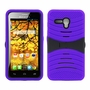 Alcatel One Touch Fierce XL Hybrid Silicone Case Cover Stand Purple