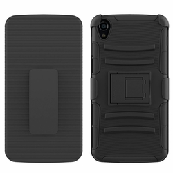 Alcatel one Touch Idol 3 6045 Armor Belt Clip Holster Case Black