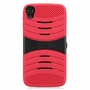 Alcatel One Touch IDOL 3 Hybrid Silicone Case Cover Stand Red