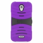 Alcatel One Touch POP Astro Hybrid Silicone Case Cover Stand Purple