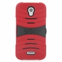 Alcatel One Touch POP Astro Hybrid Silicone Case Cover Stand Red