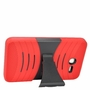 Alcatel OneTouch PIXI 7 Hybrid Silicone Case Cover Stand Red