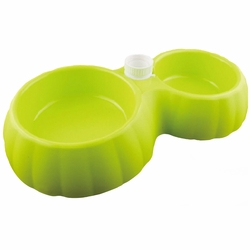 Automatic Add Water Double Pet Bowls Dog Bowls Cat Bowls Pet Supplies - Green