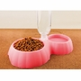 Automatic Add Water Double Pet Bowls Dog Bowls Cat Bowls Pet Supplies - Rose Red