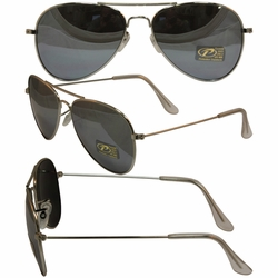 Aviator Silver Frame and Smoke Lenses