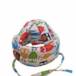 Baby & Infant Toddler Safety Helmet Head Protection Cap Owl Cream(Adjustable)
